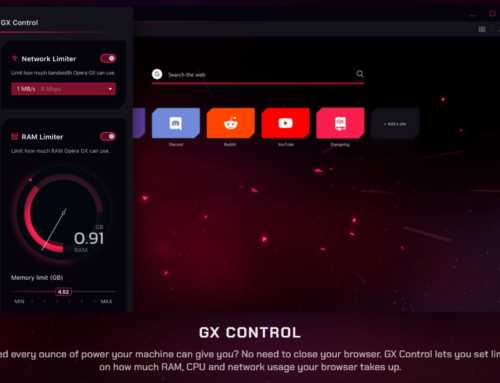 Opera GX Browser Gaming Ramah Memori dan CPU